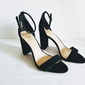 Vince Camuto Black Ankle Strap High Heels 8M